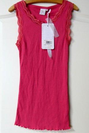 Deerberg Prążkowana koszulka różowy Bawełna
