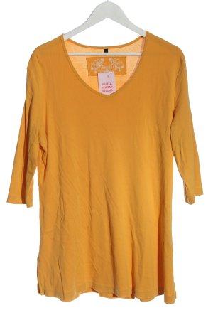 Deerberg V-Neck Shirt light orange casual look