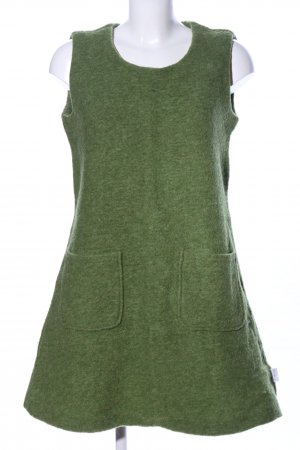 Deerberg Vestito di lana verde puntinato stile casual