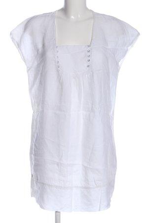 DeeWhy Blouse en lin blanc style décontracté