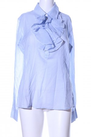DeeWhy Rüschen-Bluse blau Streifenmuster Business-Look