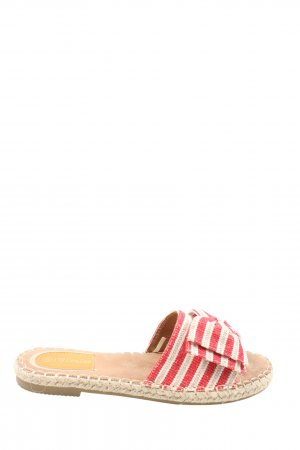 DeeZee Beach Sandals natural white-red striped pattern casual look