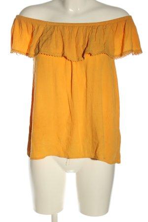 Defacto Carmen blouse licht Oranje casual uitstraling