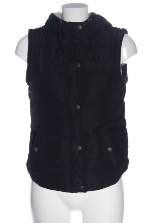 Defacto Down Vest black quilting pattern casual look