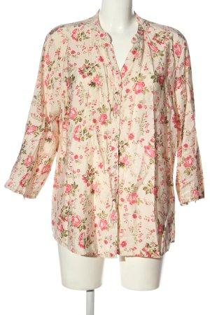 Defacto Camicia blusa crema-rosa stampa integrale elegante