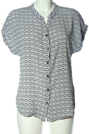Defacto Camicia blusa bianco-nero stampa integrale stile casual