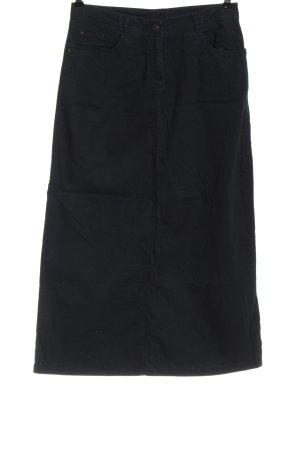 Defacto Falda midi azul look casual