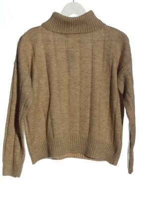 Defacto Turtleneck Sweater brown casual look