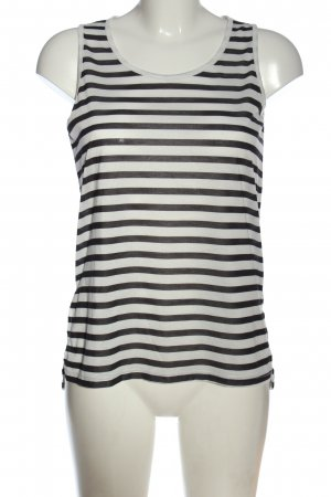 Defacto Tank Top black-white striped pattern casual look
