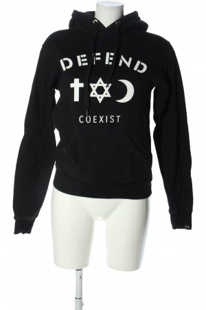Defend Hooded Sweatshirt black casual look