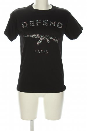 Defend T-Shirt themed print casual look