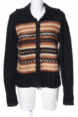 Strickjacke grafisches Muster Casual-Look