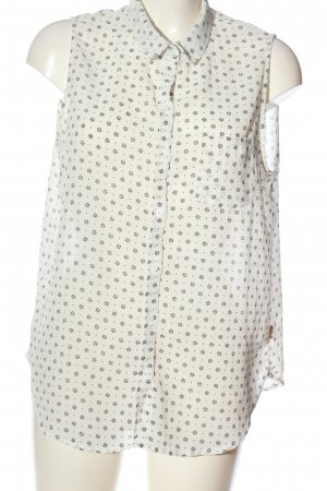DeFry 01 Blusa trasparente bianco-nero motivo floreale stile casual