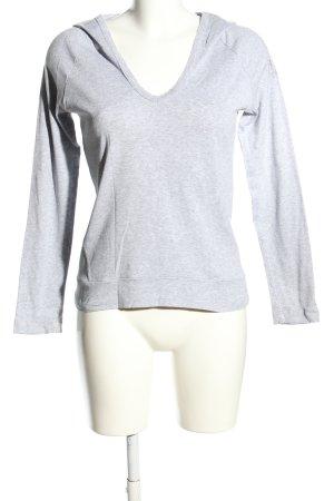 Deha Shirt met capuchon lichtgrijs gestippeld simpele stijl