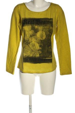 Deha Longsleeve primrose-black themed print casual look