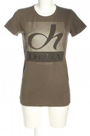 Deha Print-Shirt braun Motivdruck Casual-Look