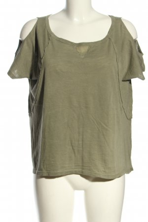Deha Shirt Tunic olive green flecked casual look
