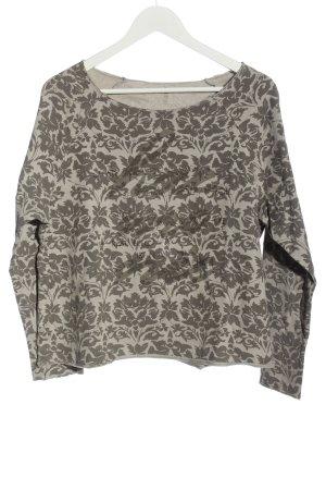 Deha Sweatshirt wollweiß-braun abstraktes Muster Casual-Look