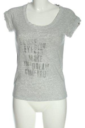 Deha T-Shirt light grey flecked casual look