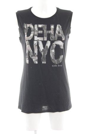 Deha Tanktop schwarz Motivdruck Casual-Look