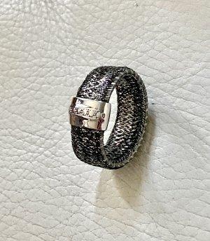 925er Silber Bague en argent noir-argenté