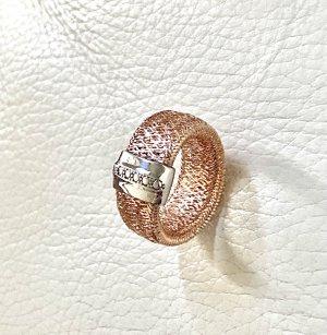 925er Silber Anello d'argento color oro rosa-argento