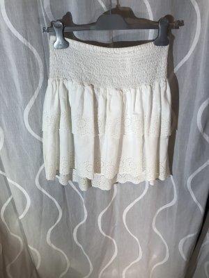 H&M Koronkowa spódnica biały