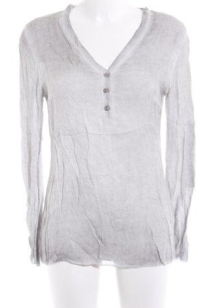 Deichgraf Langarm-Bluse hellgrau-grau schlichter Stil