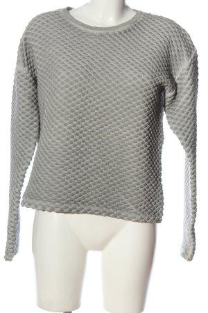 Deichgraf Crewneck Sweater light grey allover print casual look