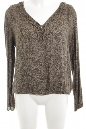 Deichgraf Transparenz-Bluse braun-wollweiß Leomuster extravaganter Stil
