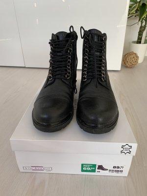 Deichman Stiefeletten Bikerschuhe Boots Leder