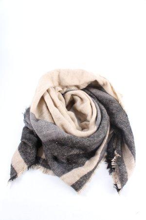Deichmann Bufanda de punto blanco puro-gris claro Patrón de tejido look casual