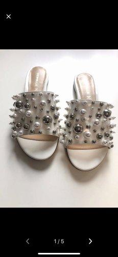 Deimille Perlen Schlapfen Sandalen