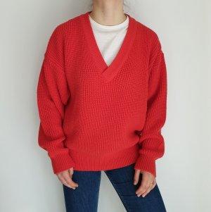 del gado 52 rot Cardigan Strickjacke Oversize Pullover Hoodie Pulli Sweater Top True Vintage