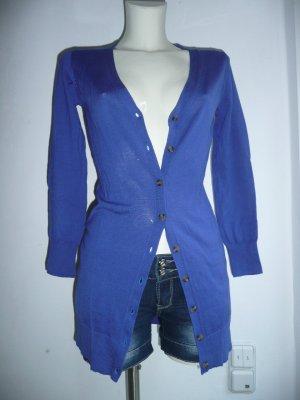 Delicate Love Feinstrick Cardigan Strickjacke Kobalt Blau Gr 36 S