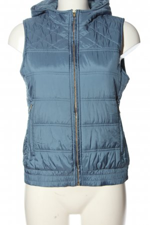 Delicate Love Hooded Vest blue quilting pattern casual look