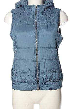 Delicate Love Capuchon vest blauw quilten patroon casual uitstraling