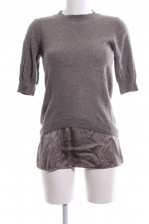 Delicate Love Kurzarmpullover braun Business-Look