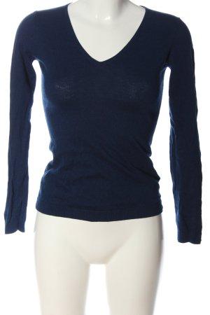 Delicate Love V-Ausschnitt-Pullover blau Casual-Look