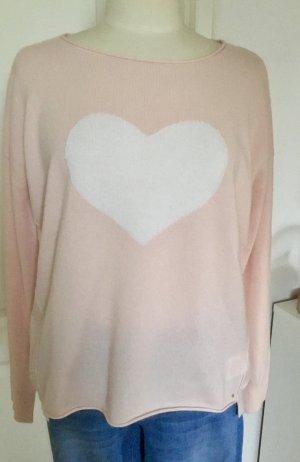 delicatelove Pullover in cashmere rosa pallido-bianco sporco Cachemire