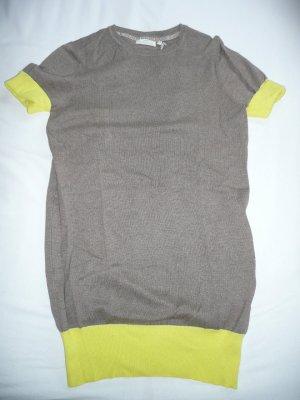 Delicate Love Two Tone Long Strickpulli Pullover Baumwolle Seide Kaschmir Gr L