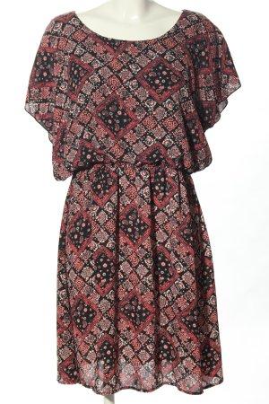 Delirious Chiffon Dress black-red abstract pattern elegant