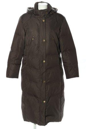 Delmod Płaszcz puchowy jasnoszary Pikowany wzór W stylu casual