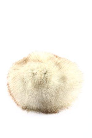 Delmod Futrzana czapka kremowy W stylu casual