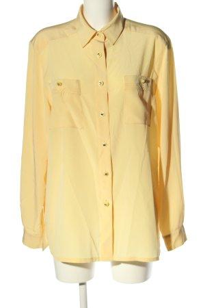 Delmod Hemd-Bluse blassgelb Casual-Look