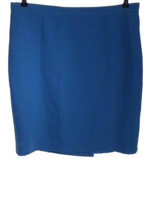 Delmod High Waist Rock blau Business-Look