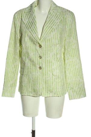Delmod Klassischer Blazer weiß-grün Allover-Druck Casual-Look