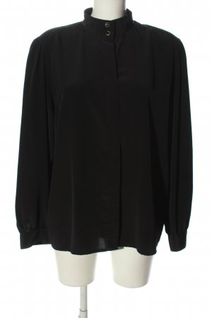 Delmod Langarm-Bluse schwarz Business-Look
