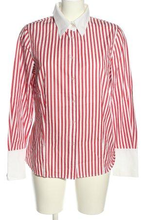 Delmod Langarm-Bluse rot-weiß Streifenmuster Casual-Look