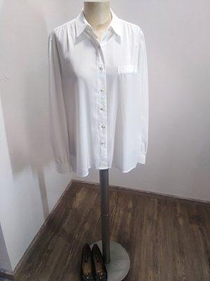 Delmod Vintage Bluse weiß goldene Knöpfe Gr. 40/42
